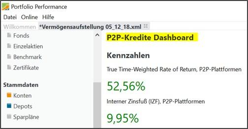 Abbildung 41: ein mögliches P2P-Dashboard